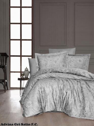"""Постельное белье """"Advina Grey"""" Satin Cotton :: First Choice"""