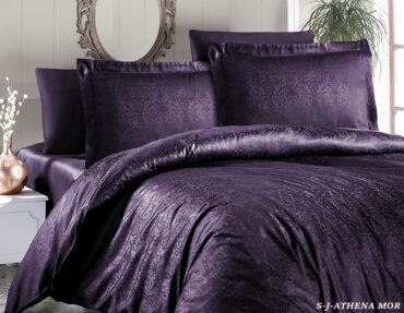 """Постельное белье """"Athena Purple"""" Jacquard Satin :: First Choice"""