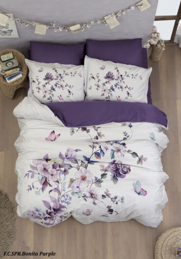 """Постельное белье """"Bonita Purple"""" Superior сатин Digital 250 TC :: First Choice"""