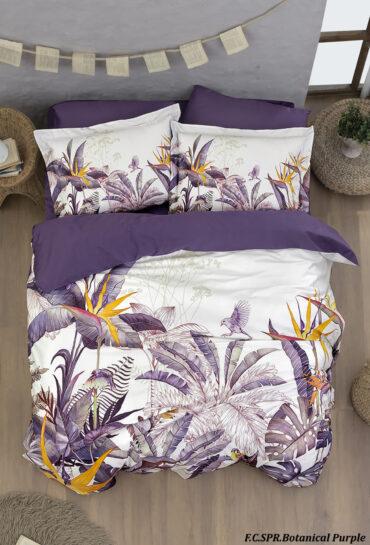 "Постельное белье ""Batanical Purple"" Superior сатин Digital 250 TC :: First Choice"