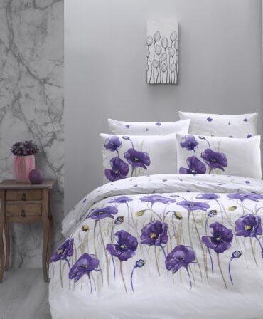 """Постельное белье """"Bozca Lilac"""" Ранфорс :: First Choice"""