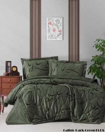 "Летний набор Softness Quilt Set ""Calisto Dark Green"" :: First Choice"