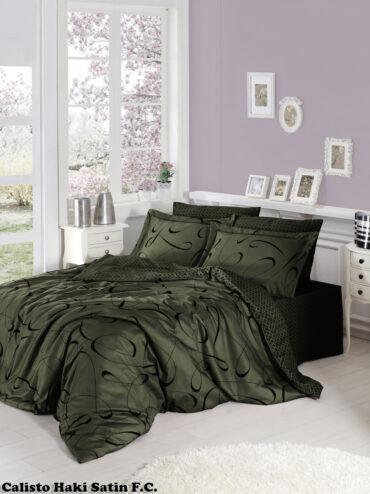 "Постельное белье ""Calisto Dark Green"" Satin Cotton :: First Choice"