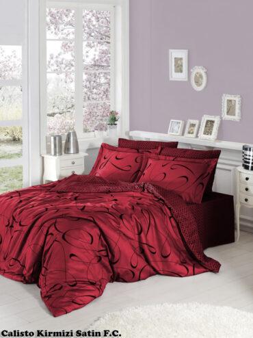 "Постельное белье ""Calisto Red"" Satin Cotton :: First Choice"