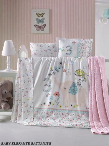 """Постельное белье """"Elefante"""" в кроватку :: LaRomano"""