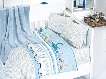 """Детский постельный набор в кроватку """"Ginny Blue"""" Nirvana :: First Choice"""
