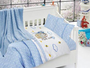 """Детский постельный набор в кроватку """"Kitty Blue"""" Nirvana :: First Choice"""