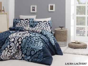 """Постельное белье """"Laura Navy Blue"""" Satin Cotton :: First Choice"""