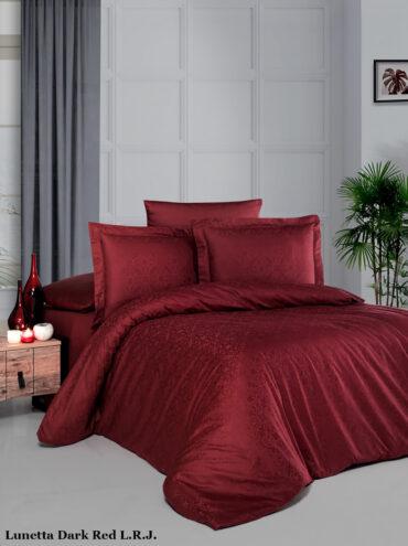 "Постельное белье ""Lunetta Dark Red"" Jacquard Сатин :: LaRomano"
