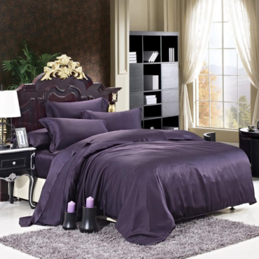 Luxuer 7PC Solid Silk Bedding