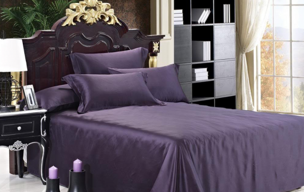 Luxuer 7PC Solid Silk Bedding Collections