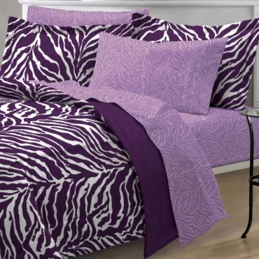 My Room Zebra Purple Ultra Soft