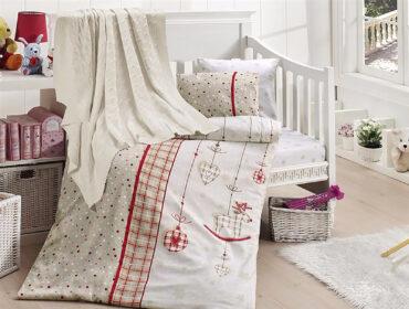 """Детский постельный набор в кроватку """"Palmy Red"""" Nirvana :: First Choice"""