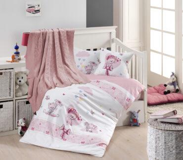 """Детский постельный набор в кроватку """"Pink Cat"""" Nirvana :: First Choice"""