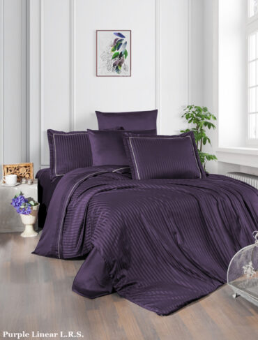 "Постельное белье ""Purple"" Linear Сатин :: LaRomano"