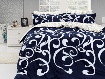 "Постельное белье ""Ruya Navy Blue"" Satin Cotton :: First Choice"