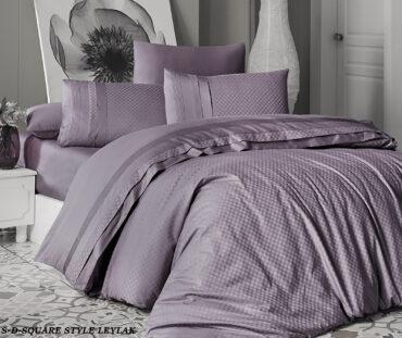 "Постельное белье ""Square Style Lilac"" Satin Deluxe :: First Choice"