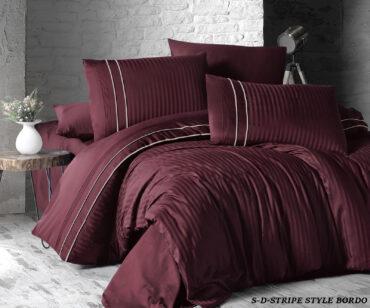"Постельное белье ""Stripe Style Dark Red"" Satin Deluxe :: First Choice"