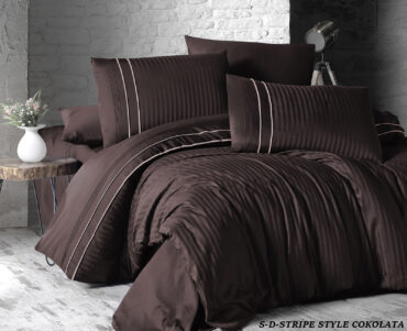 "Постельное белье ""Stripe Style Chocolate"" Satin Deluxe :: First Choice"