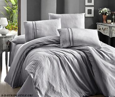 "Постельное белье ""Stripe Style Grey"" Satin Deluxe :: First Choice"