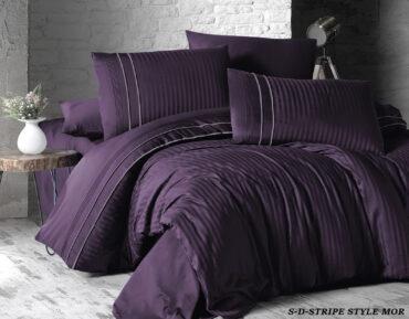 "Постельное белье ""Stripe Style Purple"" Satin Deluxe :: First Choice"