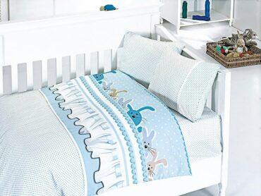 """Детский постельный набор в кроватку """"Ginny Blue"""" Bamboo :: First Choice"""