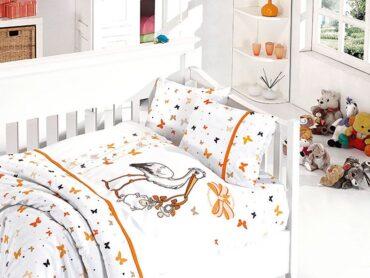 """Детский постельный набор в кроватку """"Stork Oranj"""" Bamboo :: First Choice"""